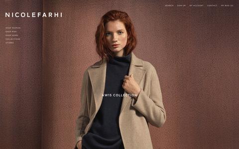 Screenshot of Home Page nicolefarhi.com - Shop Men + Women Ready to Wear and Accessories   Nicole Farhi - captured Oct. 15, 2015