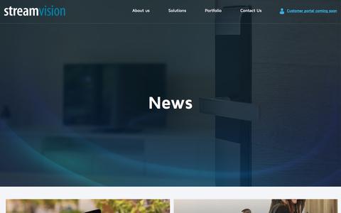 Screenshot of Press Page streamvision.com.au - News – Streamvision - captured Sept. 20, 2019