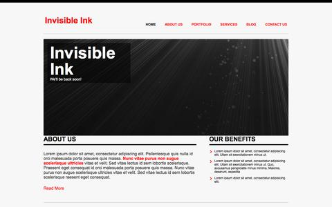 Screenshot of Home Page invisibleink.ca captured Aug. 6, 2016