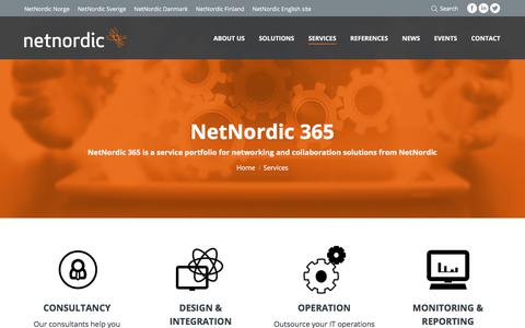 Screenshot of Services Page netnordic.fi - NetNordic Finland   IPnett offers services and support from A-Z in the value chain - captured Nov. 12, 2017