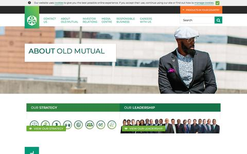 Screenshot of About Page oldmutual.com - About Old Mutual | Old Mutual Limited - captured Aug. 17, 2018