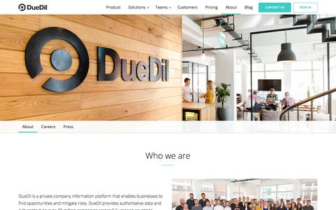 About  | DueDil
