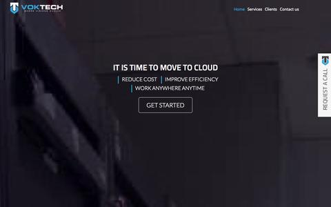 Screenshot of Home Page voktech.com - VOKTECH - captured Sept. 30, 2014