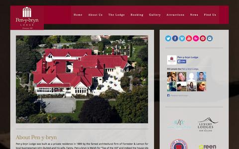 Screenshot of About Page penybryn.co.nz - About us - Pen-y-bryn Lodge Pen-y-bryn Lodge - captured Oct. 2, 2014