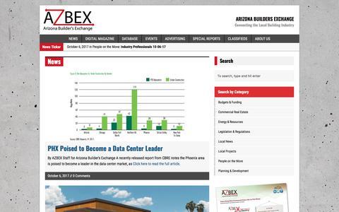 Screenshot of Press Page azbex.com - Arizona Builders Exchange - captured Oct. 8, 2017