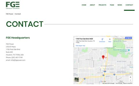 Screenshot of Contact Page fgepower.com - Contact - FGE Power - captured Aug. 9, 2018