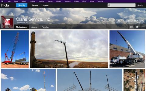 Screenshot of Flickr Page flickr.com - Flickr: Crane Service, Inc's Photostream - captured Oct. 22, 2014