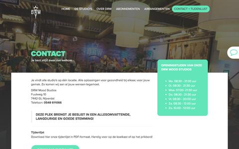 Screenshot of Contact Page drw-fitnesscentrum.nl - Contact - captured July 31, 2016
