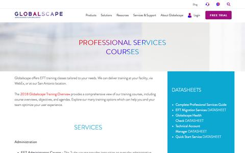 Professional Services Courses | Globalscape
