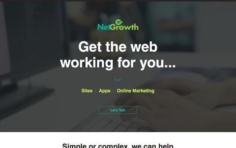Screenshot of Home Page netgrowth.ca - Netgrowth - Web consulting, Websites, Apps, UX / UI design - captured Nov. 8, 2017