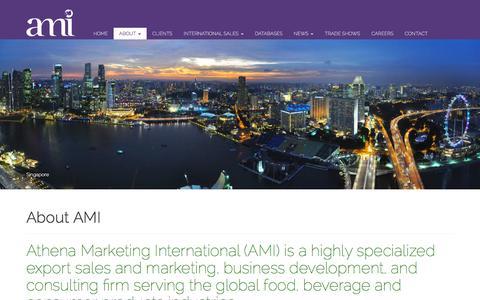 Screenshot of About Page athenaintl.com - About AMI | Athena Marketing International (AMI) - captured Feb. 6, 2016