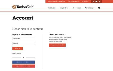 Screenshot of Login Page timbertech.com - Login - captured Aug. 15, 2016