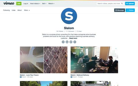 Slalom on Vimeo