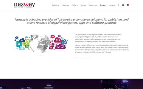 Screenshot of About Page nexway.com - About Us – Nexway - captured May 9, 2017