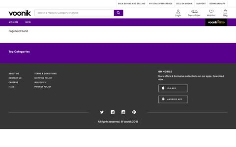 Screenshot of About Page voonik.com - Page Not Found - captured Oct. 5, 2019