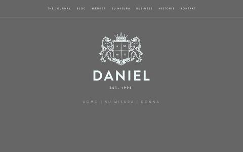 Screenshot of Home Page daniel.dk - DANIEL - captured Oct. 5, 2014