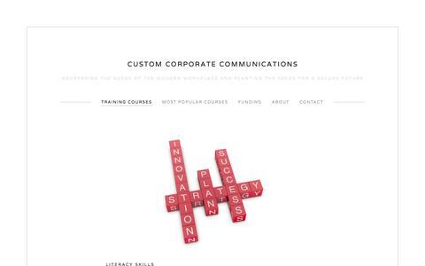 Screenshot of Menu Page c3train.com - Training Courses — Custom Corporate Communications - captured Oct. 3, 2014