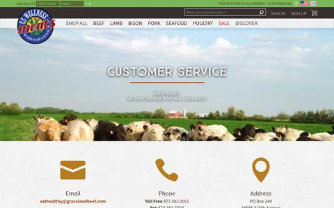 Screenshot of Contact Page grasslandbeef.com - Contact Us | US Wellness Meats - captured Oct. 21, 2018