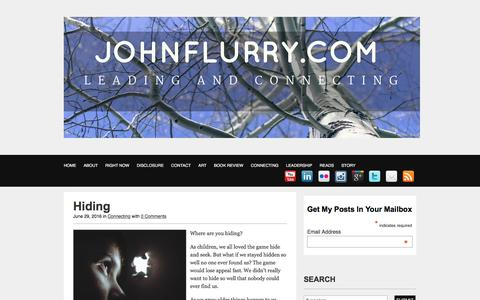 The JohnFlurry Blog | Connection | Story | Life
