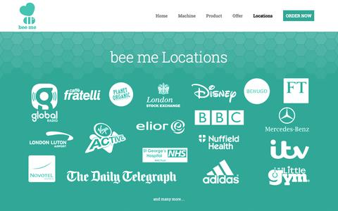 Screenshot of Locations Page beeme.co.uk - Locations - captured June 1, 2017