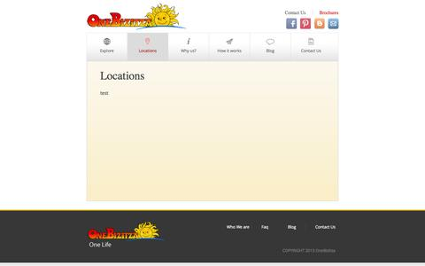 Screenshot of Locations Page onebizitza.com - Locations | Onebizitza - captured Oct. 26, 2014
