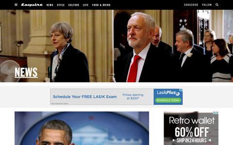 Screenshot of Press Page esquire.com - News - Esquire - captured Feb. 15, 2018