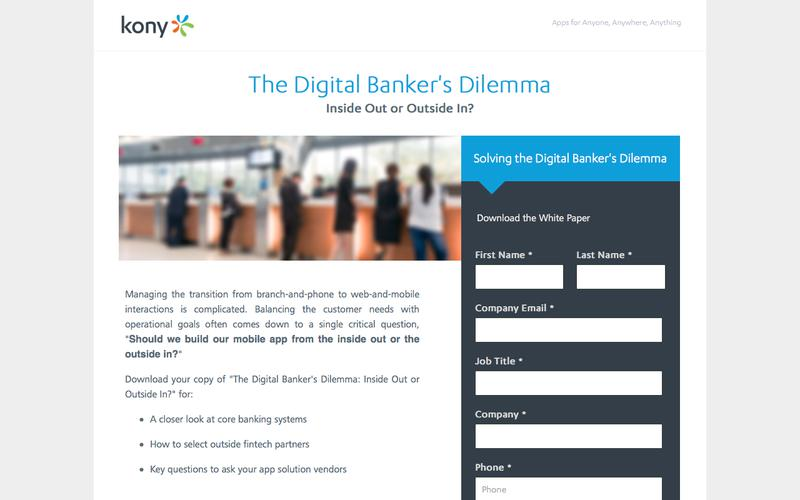 Kony | The Digital Banker's Dilemma