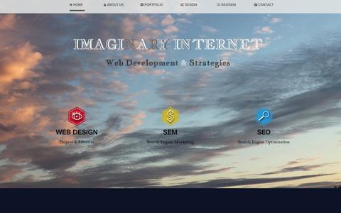 Screenshot of Contact Page imaginaryinternet.com - Web Development - Web Design - SEO - Internet Marketing - E-Commerce - Los Angeles | Imaginary Internet Web Development & Strategies - captured Oct. 8, 2014