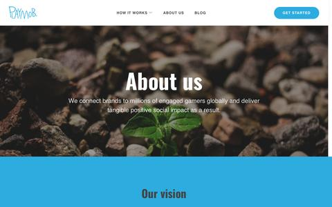 Screenshot of About Page playmob.com - About us – Playmob - captured May 9, 2017