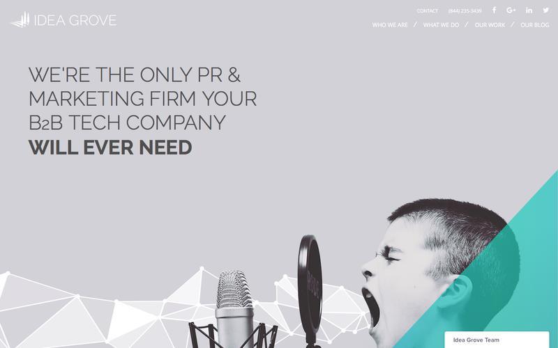 Screenshot Tech PR Firms - Technology Public Relations   Idea Grove Agency