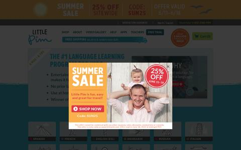 Screenshot of Home Page littlepim.com - Early Language Development - Learn a Foreign Language | Little Pim - captured June 16, 2015