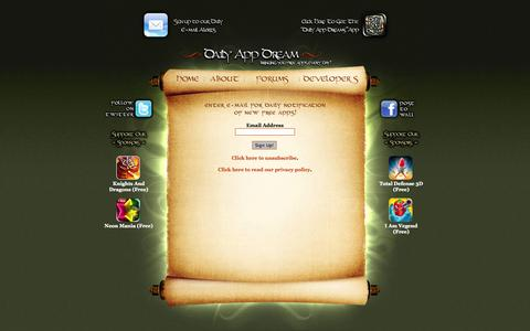 Screenshot of Signup Page dailyappdream.com - Paid Apps for Free - captured Oct. 6, 2014