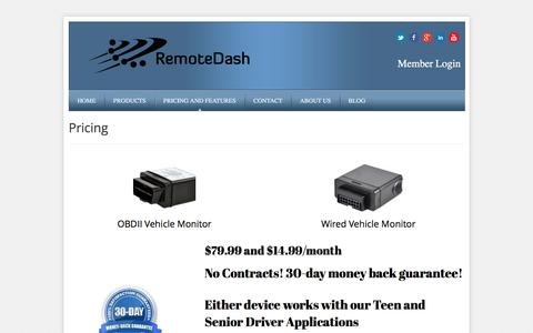 Screenshot of Pricing Page remotedash.com - Pricing | RemoteDash - captured Feb. 26, 2016