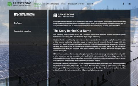Screenshot of About Page armstrongam.com - Armstrong Asset Management - captured Nov. 2, 2014