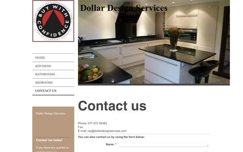 Screenshot of Contact Page dollardesignservices.com - Dollar Design Services - Contact Us - captured Aug. 2, 2016