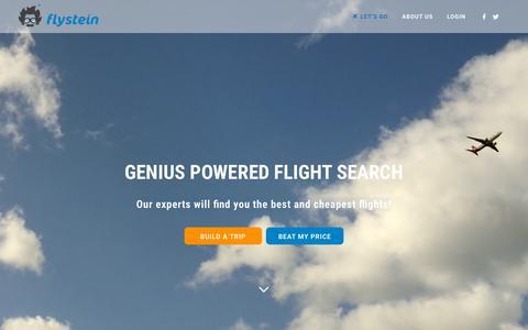 Screenshot of Home Page flystein.com - Home - Flystein - captured Nov. 3, 2015