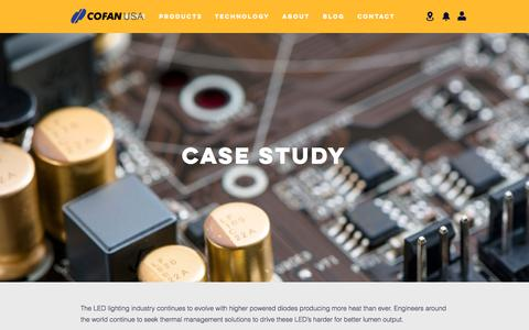 Screenshot of Case Studies Page cofan-pcb.com - COFAN | Case Study - captured Sept. 25, 2018