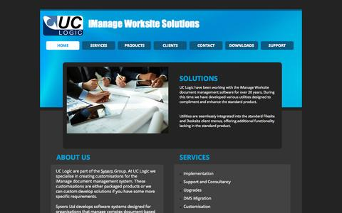 Screenshot of Contact Page uclogic.com - iManage Worksite Utilities and Solutions - captured Sept. 26, 2015