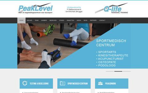 Screenshot of Home Page peaklevel.be - Peaklevel Home - Peaklevel - captured Dec. 7, 2015