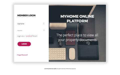 Screenshot of Login Page jamesanderson.co.uk - MyHome Login - captured Oct. 16, 2017