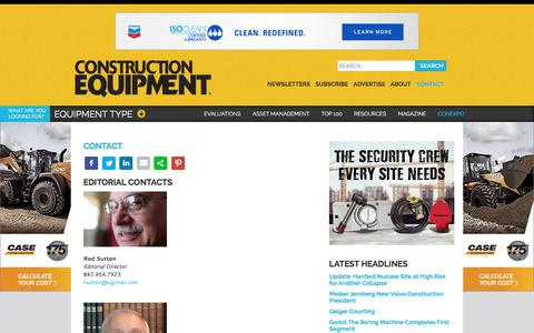 Screenshot of Contact Page constructionequipment.com - Contact | Construction Equipment - captured July 3, 2017