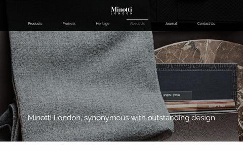 Screenshot of About Page minottilondon.com - Minotti LondonAbout Us - Minotti London - captured Dec. 20, 2018