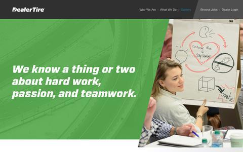 Screenshot of Jobs Page dealertire.com - Careers - Dealer Tire - captured Oct. 12, 2017