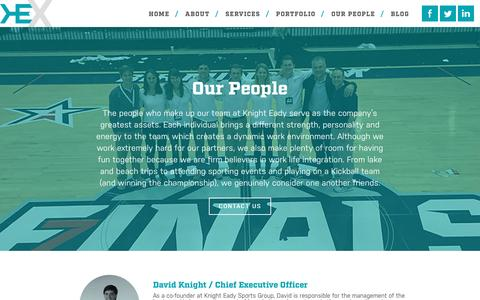 Screenshot of Team Page knighteady.com - Our People | Knight Eady - captured March 31, 2016