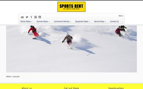 Screenshot of Home Page sportsrent.ca - Sports Rent - captured Feb. 27, 2016