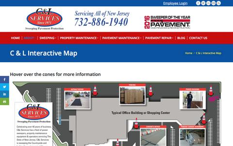 Screenshot of Maps & Directions Page sweeping.com - C & L Interactive Map - C & L Services - captured July 6, 2017
