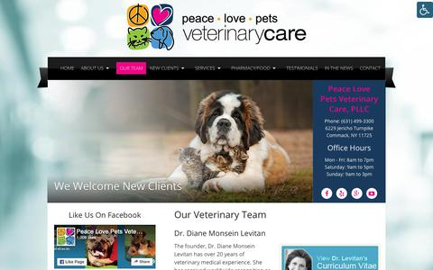 Screenshot of Team Page peacelovepets.org - Our Veterinary Team in Commack, NY   Peace Love Pets Veterinary Care - captured Sept. 27, 2018