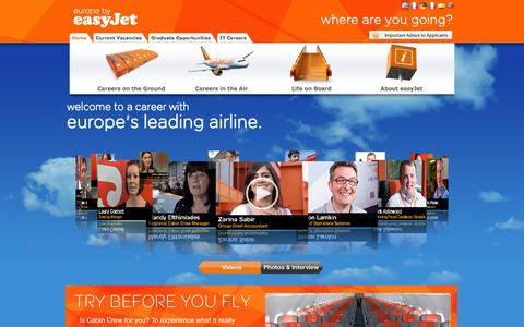Screenshot of Jobs Page easyjet.com - easyJet Careers - captured Sept. 19, 2014