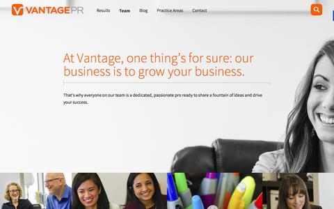 Screenshot of Team Page vantagepr.com - Tech PR Agency with a Solid Team I Vantage PR - captured Nov. 17, 2015