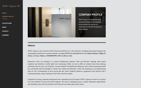 Screenshot of About Page wantagencyinc.com - Company Profile - Want Agency - captured Oct. 26, 2014